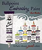 Image of Aunt Martha's Ballpoint 8-Pack Embroidery Paint, Jewel Colors