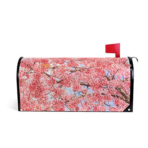 - ALAZA Japanese Cherry Blossom Sakura Magnetic Mailbox Cover Oversized-25.5