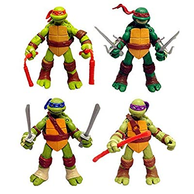 Clean Sky Group 4 PC Set USA Teenage Mutant Ninja Turtles Classic Collection TMNT Action Figures