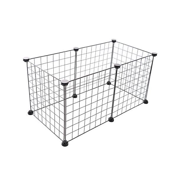 HOMYL Dog Pet Playpen Heavy Duty Metal Exercise Fence 6- Panel DIY Assemly 35x35cm (Black) Click on image for further info. 4