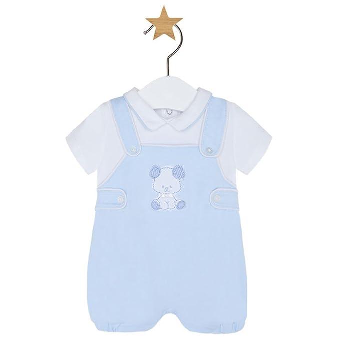 Mayoral Pelele Peto Punto Niño Bebé Azul Cielo (12 Meses)