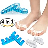 Gel Toe Separators, Toe Spacers Toe Stretchers, Instant Therapeutic Bunion Relief for Women and Men - 4 Pairs