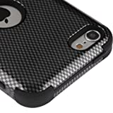ipod 5 carbon fiber case - Apple iPod Touch 5 5th Gen / 6 6th Gen Case, Kaleidio [TUFF] Impact Protective Dual Layer Hybrid Cover [Includes a Overbrawn Prying Tool] [Carbon Fiber Pattern]
