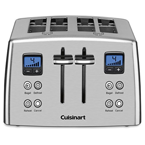 Metal Countdown (Cuisinart CPT-435C 4-Slice Countdown Metal Toaster - Stainless Steel)
