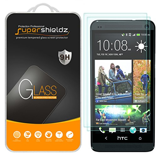 (2 Pack) Supershieldz for HTC One M7 Tempered Glass Screen Protector, Anti Scratch, Bubble Free