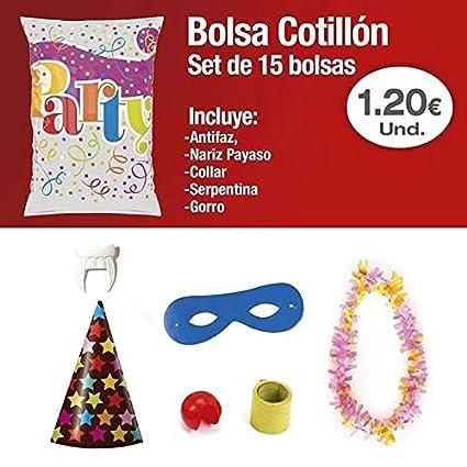 casa imabo Pack x15Bolsas de Cotillon Plata Eco Mediana ...