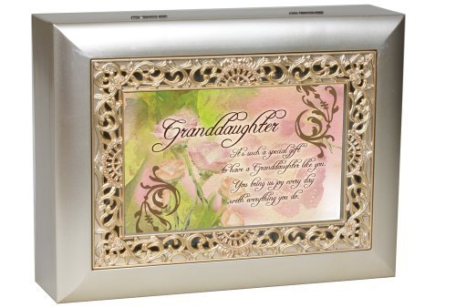 Cottage Garden Granddaughter Music Jewelry Box Plays You Light Up My Life by Cottage Garden - Hilltop Cottage