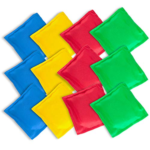 Childrens Bean Bags (Super Z Outlet Nylon Cornhole Bean Bags Toy Set Sack Hand Toss Games Weights for Kids (5