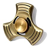 Banaroo Tri Fidget Hand Spinner EDC Focus Finger Fidget Toy Premium Quality Ceramic Bearing High Speed 3-6 Min Fast Silent Spin Durable Copper Great Stress Relieve Anxiety Relax Adult Kids Gadgets Toy