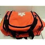 First Responder First Aid Kit Orange Trauma Bag Fully Stocked Best Overall Value Great for Earthquake Tornado Preparedne