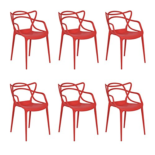 Giantex Set of 6 Dining Chairs Masters Modern Design Armchai