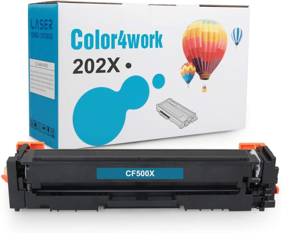 Color4work Compatible HP 202A 202X CF500A CF500X Toner Cartridge, High Yield Black 3,200 Pages Cartridge 1 Pack for use with HP Laserjet Pro M254 M281cdw M281dw Series Printer