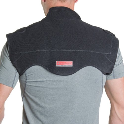 Venture Heated Clothing KB-1250 REG Black Regular 12V Heated Neck and Shoulder Therapy Wrap with Temperature Controller and 12V Adapter