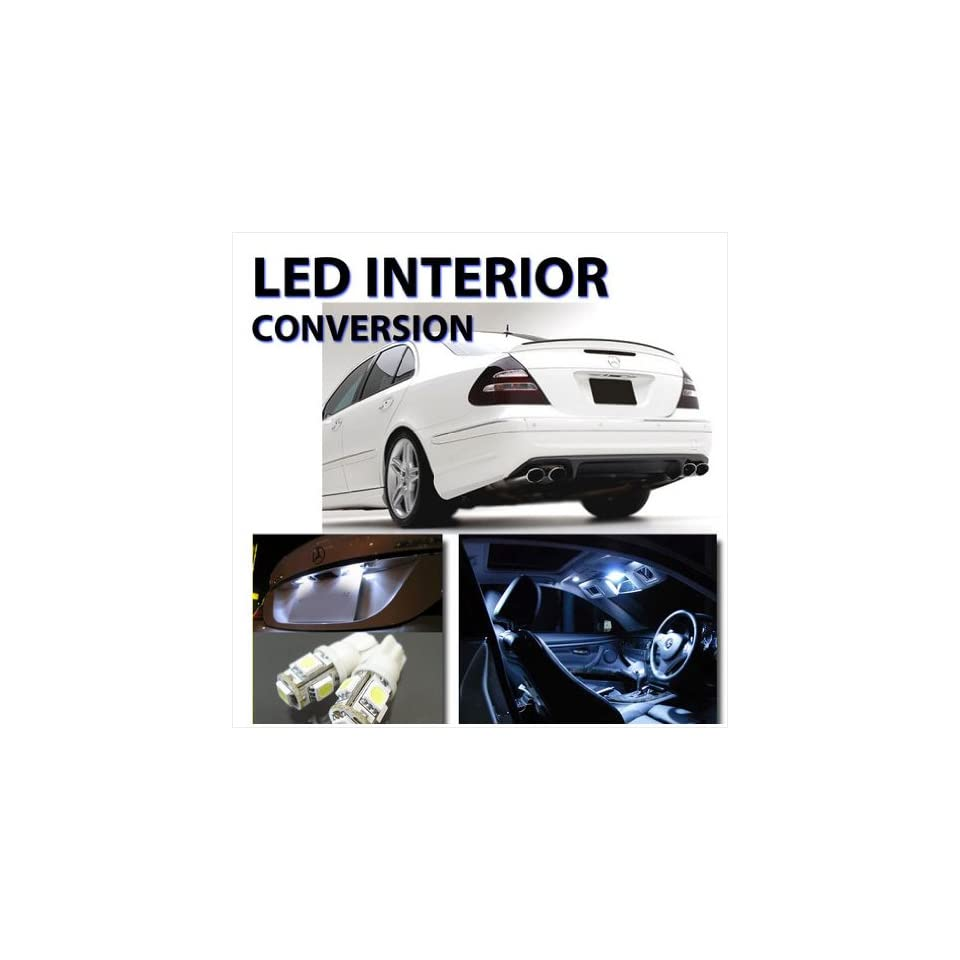 White Interior LED Kit for Mercedes Benz E Class W211 2002 2009 (Pack of 24)