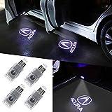 Grolish 4 Piece Auto Door Logo Projector Car Door Lights Door Step Courtesy Light for Acura