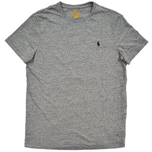 Polo Ralph Lauren Mens Short Sleeve Custom Slim Fit T-Shirt (M, Dark Vintage Gray - Black - Service Ralph Customer Polo Lauren