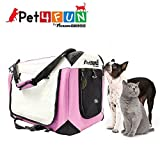 PET4FUN PN951 Foldable Pet Puppy Dog Cat Carrier & Travel Crate w/ Premium 600D Oxford Cloth, Strong Steel Frame, Carry Bag, Locking Zippers, Washable Nap Pad, Room Airy Windows (Medium/Pink) Review