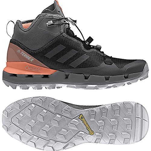 Zapatillas Adidas Outdoor Para Mujer Terrex Fast Gtx-surround (8.5 - Negro / Gris Cinco / Tiza