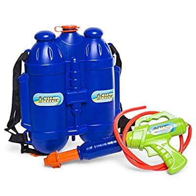 High five Squirt gun water toy mega drench tank backpack water blaster: Toys & Games