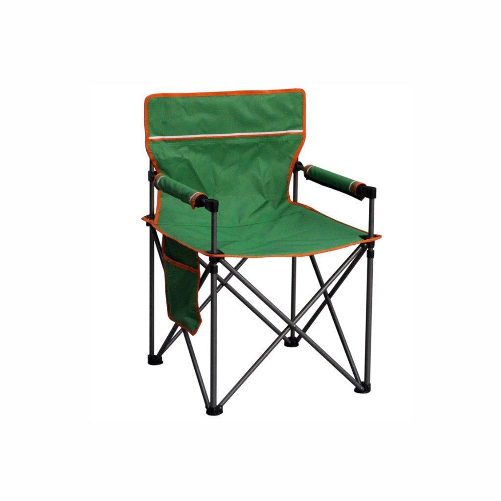 TangMengYun 折りたたみキャンプチェアポータブル折りたたみチェア釣りチェアレジャーチェア釣り/キャンプ/バーベキューに適したビーチチェア、ホームアウトドア折りたたみチェア - グリーン B073S7SG2Z