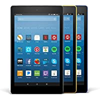 Fire HD 8 Variety Pack, 16GB - Includes Special Offers (Black/Marine Blue/Canary Yellow)