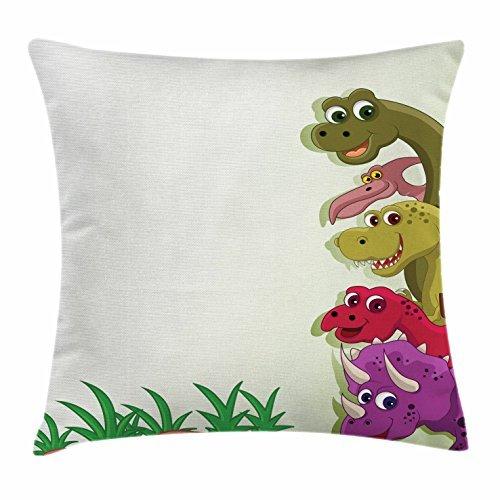 Dinosaurio manta almohada Funda de cojín, estilo de dibujos ...