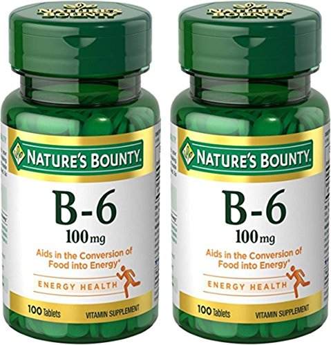 Nature's Bounty Vitamin B-6 100 mg, 200 Tablets by Nature's Bounty