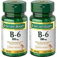 Nature's Bounty Vitamin B-6 100 mg, 200 Tablets