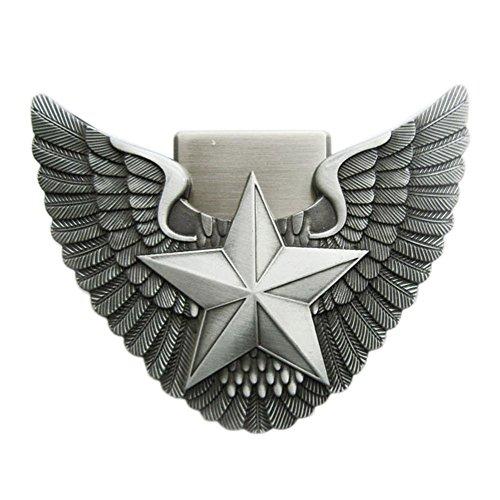 Star Lighter Belt Buckle - New Vintage Angel Wing Star Lighter Belt Buckle Gurtelschnalle