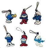 Smurfs Snap Hook Zipper Pulls 6 Pcs Set #1