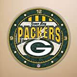 NFL Green Bay Packers Art-Glass Wall Clock