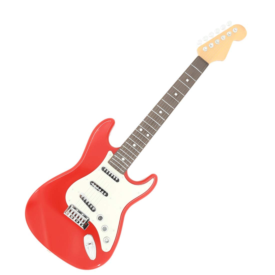 PeleusTech® Kids Electric Guitar, Children Simulation Music Guitar Cool Musical Instruments Educational Toy - (Red)