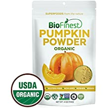 Biofinest Pumpkin Powder - 100% Pure Antioxidants Superfood - USDA Certified Organic Vegan Raw Non-GMO- Boost Digestion Immune System Weight Loss - For Smoothie Beverage (4 oz Resealable Bag)