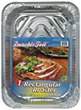 Durable Foil 3-in-1 Roasting Pan, 12-3/4'' x 10-3/8'' x 2-9/16'' (Pack of 12)