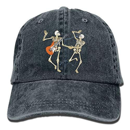 Unisex Adult Skeleton Concert Music Halloween Adjustable Cotton Denim Baseball Cap Hat Multicolor96 -