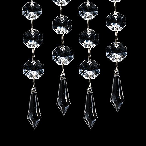 30pcs Acrylic Clear Crystal Strands Gems Bead Curtain for Wedding Centerpieces Garland / Party / Christmas Decoration