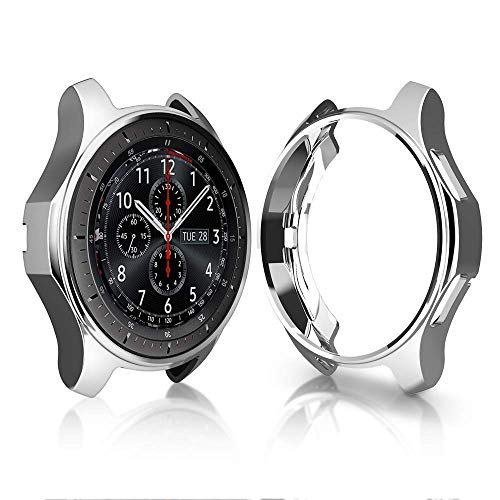 Case for Gear S3 Frontier SM-R760 46mm, Minisoo TPU Scractch-Resist Shock-Proof All-Around Protective Bumper Shell Protective Band Galaxy Watch SM-R800 46mm Smartwatch (Silver)