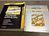 1997 Toyota PREVIA VAN Service Shop Repair Manual SET W Wiring Diagram Book
