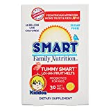 Smart Family Nutrition – Tummy Smart Lo Han Fruit Melts, Children's Probiotic Support for Digestion and Gut Health, 10 Billion CFU, Sugar Free, Gluten Free, 2 Years and Older, 30 Soft Melts