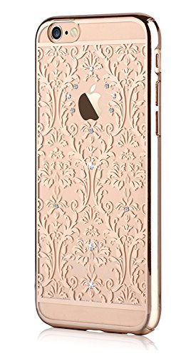 Iphone 6 4.7 & Iphone 6s,devia Crystal Baroque Series Unique & Fashion Gradient Design Decorated with Original Swarovski Element Hard Transparent Case for Iphone 6 4.7 & Iphone 6s (Gold Baroque)