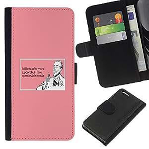 KingStore / Leather Etui en cuir / Apple Iphone 5C / Soporte Vino Bebida Cita divertida rosada Hombre