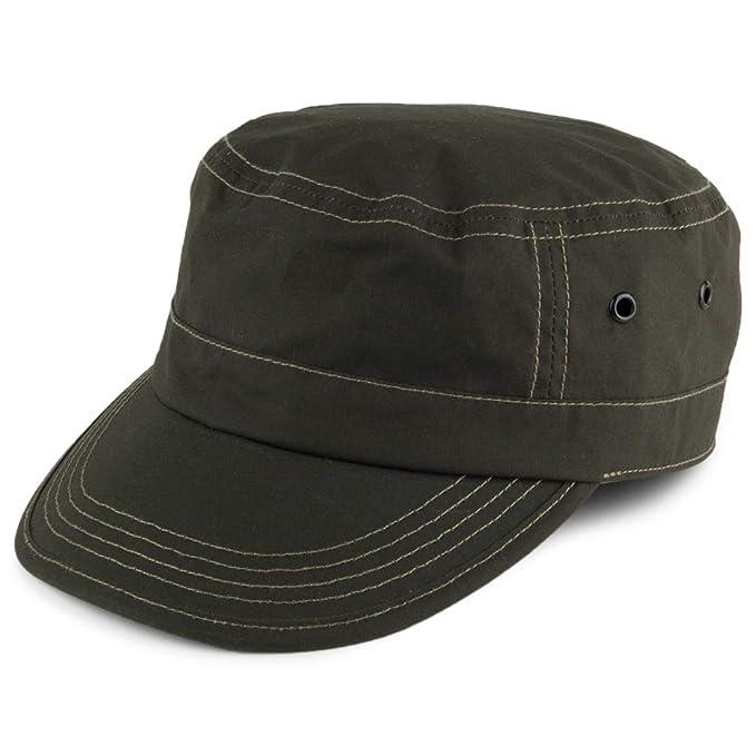 033f7bc8 Failsworth Hats Showerproof Dry Wax Army Cap - Olive: Amazon.co.uk ...