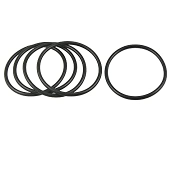 uxcell 10 Pcs Black Rubber Oil Seal O Ring Gasket Washers 65mm x 62mm x 1.5mm