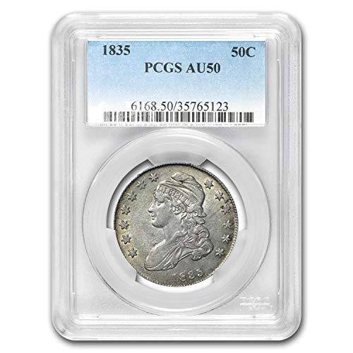 (1835 Capped Bust Half Dollar AU-50 PCGS Half Dollar AU-50 PCGS)