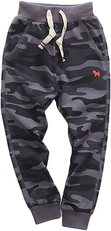 KISBINI Boys Air Cotton Active Long Pants Sports Sweatpants for Children