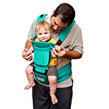 BabySteps Ergonomic Baby Carrier with Hip Seat for All Seasons, 6 Comfortable & Safe Positions for Infant & Toddlers, 47.2'' Maximum Adjustable Waistband Maximum, Perfect for Alone Nursing and Hiking