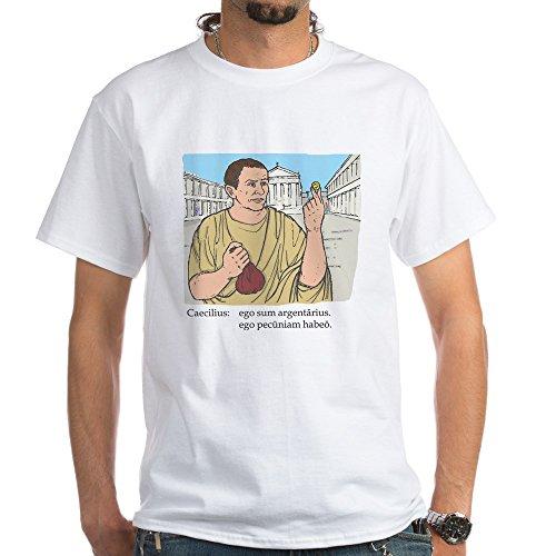 (CafePress caecilius_col White T-Shirt - 100% Cotton T-Shirt, White)