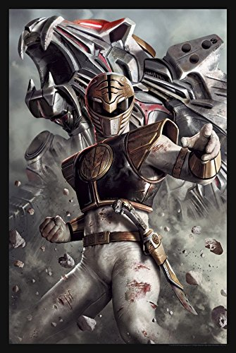 """Power Rangers Limited Edition Lithograph 16"""" x 24"""" - Titled """"White Ranger"""" by Carlos Dattoli"""