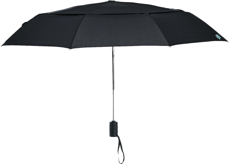Amazon.com: Coolibar UPF 50+ 42 Titanium Travel Umbrella - Sun Protective (One Size- Black): Garden & Outdoor