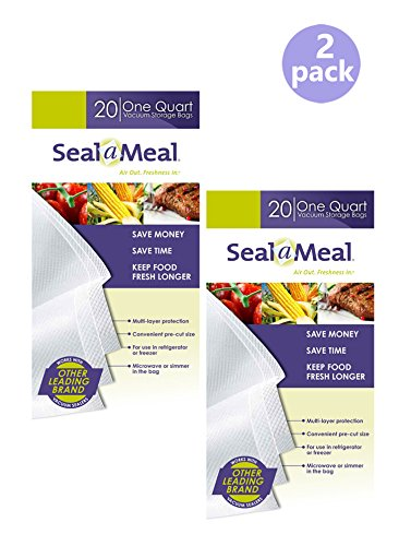 Seal A Meal quart size bags 40 pack